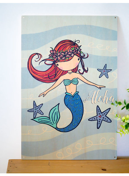 Wood Sign Mermaid