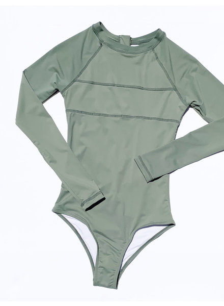 Maile Long Sleeve Swimsuit SAGE