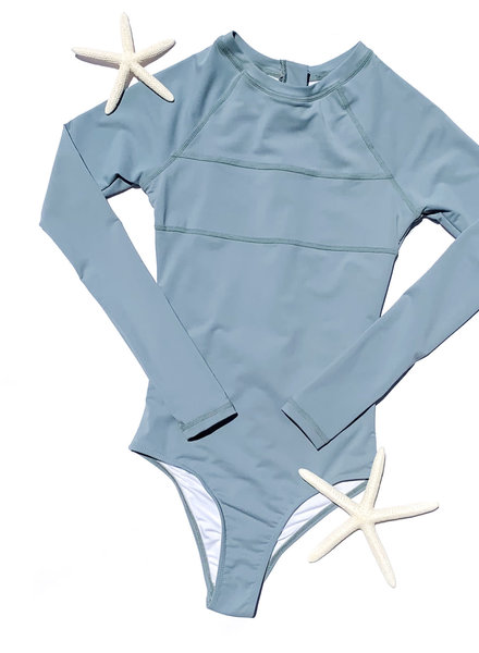 CINNAMON GIRL Maile Long Sleeve Swimsuit MIST