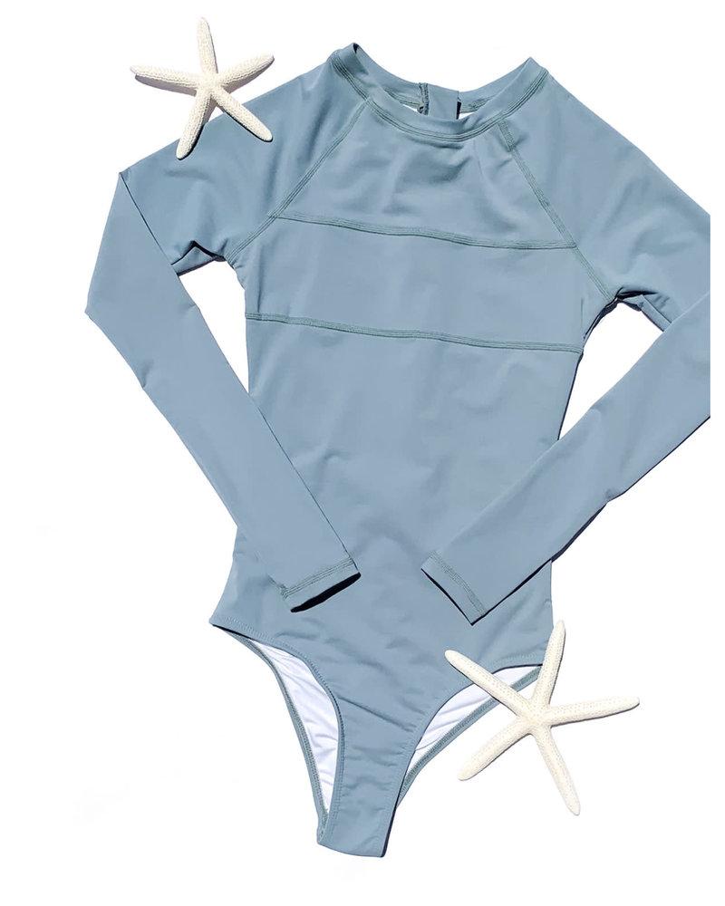 Maile Long Sleeve Swimsuit MIST