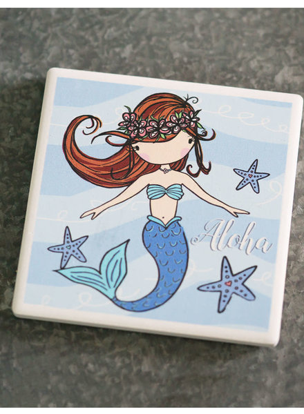 In House LP COASTER Blue Mermaid