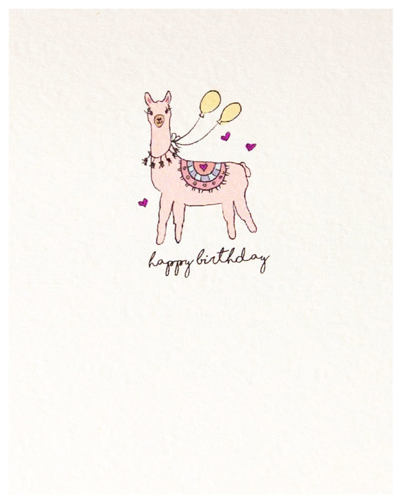 Happy Birthday Card - Llama
