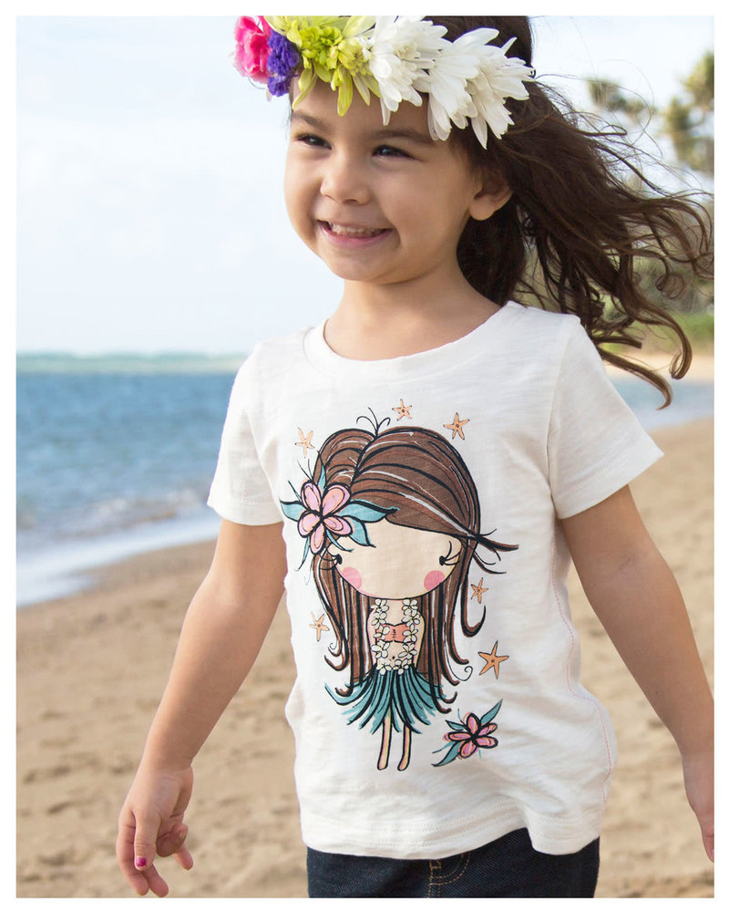 CINNAMON GIRL LIL TEE Hula Girl Starfish