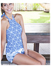 CINNAMON GIRL Leigh Tankini 594BLU