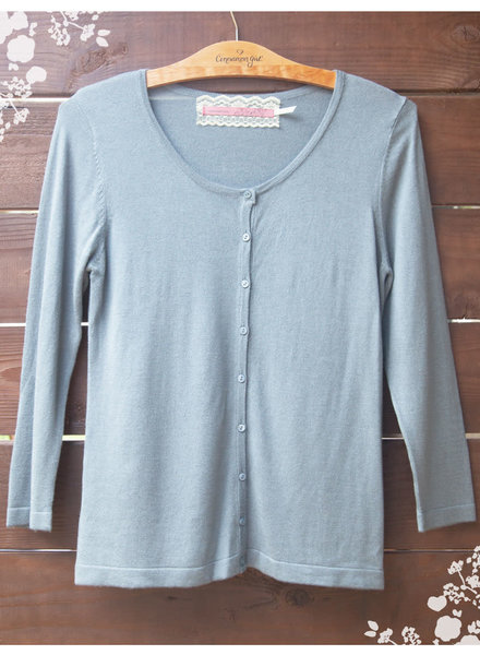CINNAMON GIRL Sammi Cardigan MISTY BLUE