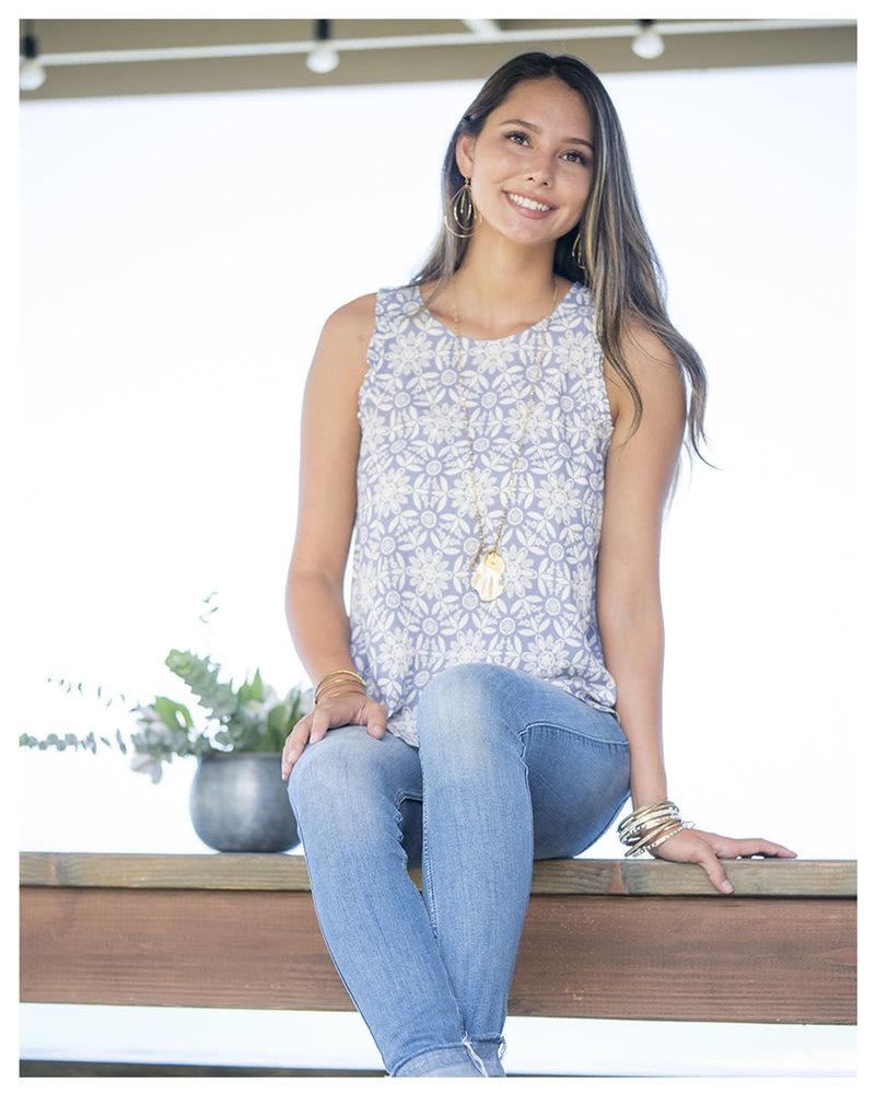 CINNAMON GIRL Ariana Blouse 593LAV