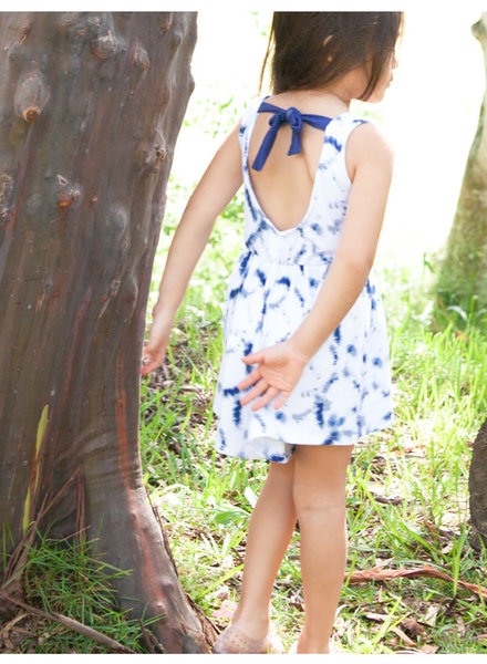 Girls Nova Romper Tie Dye Navy