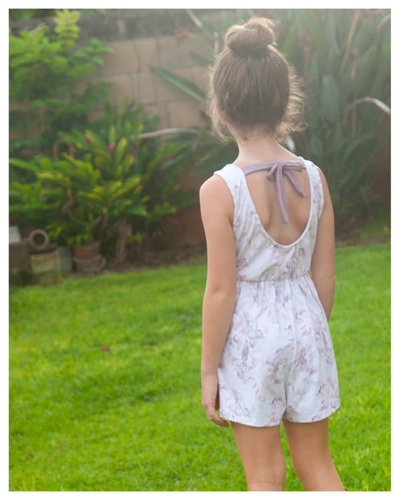 Girls Nova Romper Floral Jungle
