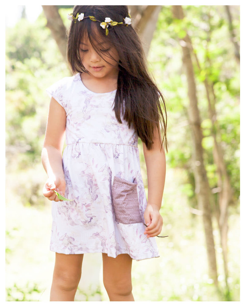 Girls Phoebe Dress Floral Jungle