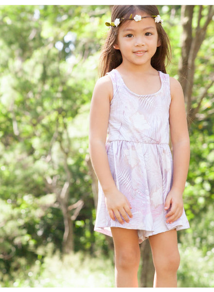 Girls Nova Romper Vintage Leaves