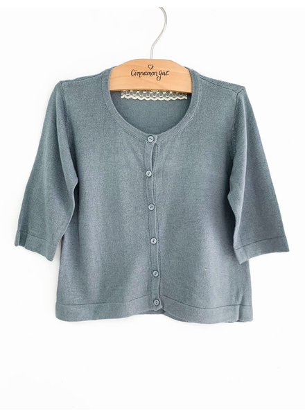 CINNAMON GIRL Lil Sammi Cardigan MISTY BLUE