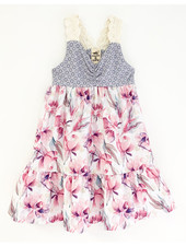 Girls Jane Dress Watercolor Peonies