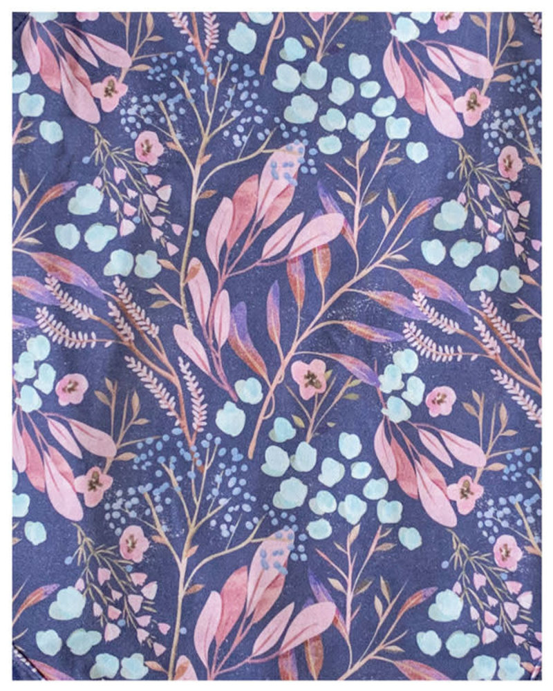 Willow Romper Blue Leaves
