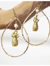 Pineapple Teardrop Earring