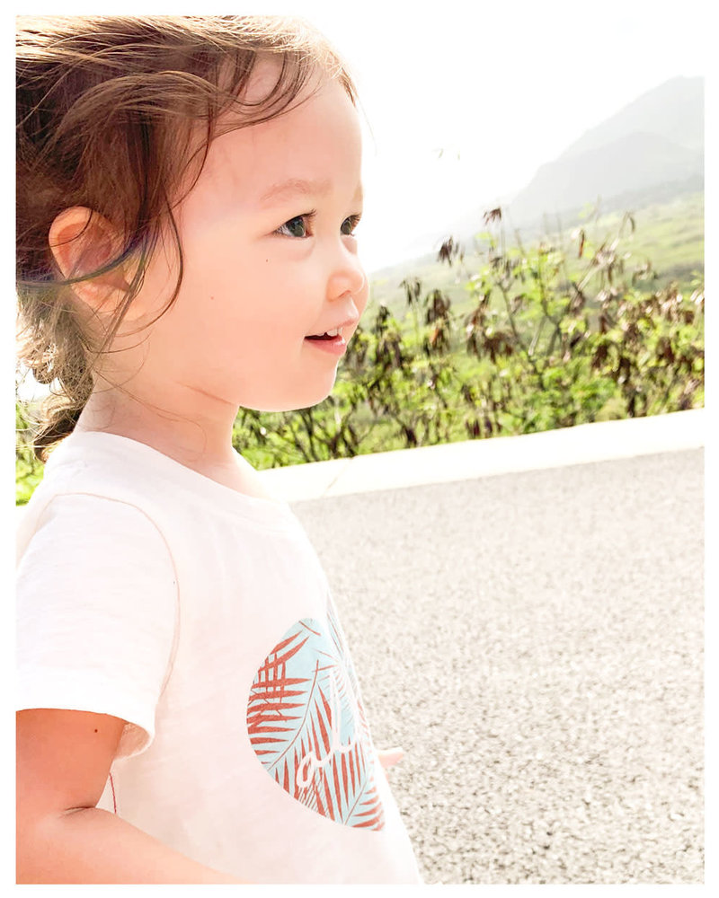 CINNAMON GIRL LIL TEE Aloha Heart Aqua