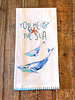 """Kitchen Towel """"You Me and the Sea"""""""