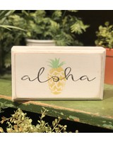 Box Frame Pineapple Aloha