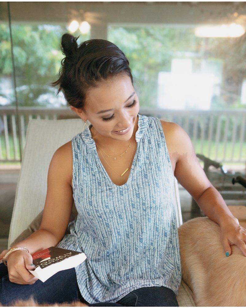 CINNAMON GIRL Audrey Blouse 700BLU