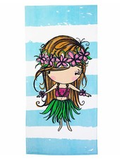 CINNAMON GIRL TOWEL Hula Girl Stripe