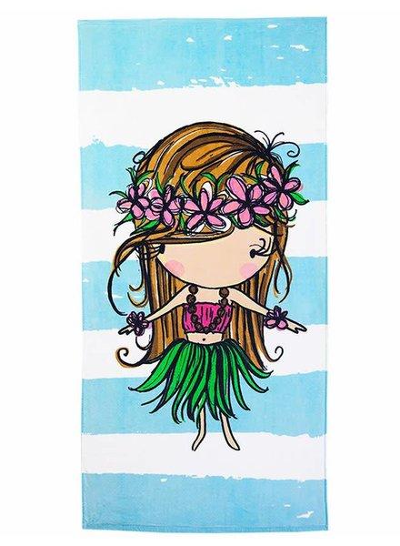 CINNAMON GIRL TOWEL Hula Girl Stripe
