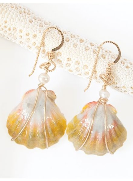HI ASHLEY MALIA Malia Sunrise Shell Earrings