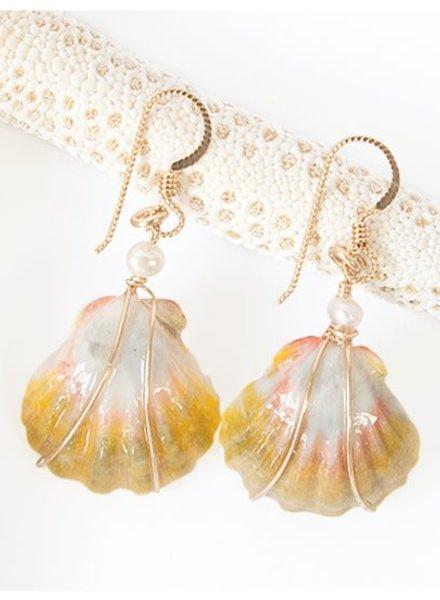 Malia Sunrise Shell Earrings