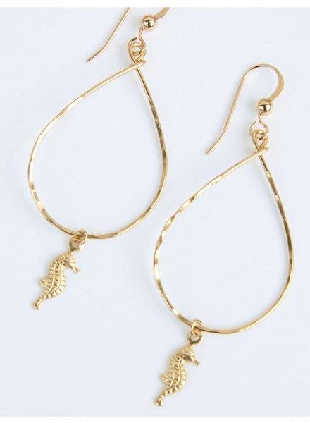 HI KOMAKAI Seahorse Earrings 14K GF SEA-SM KO12K9