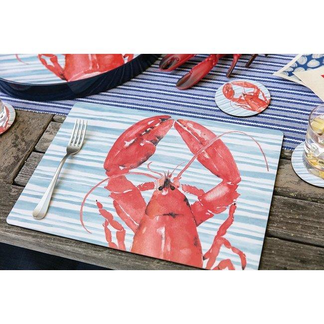 RockFlowerPaper Rock Flower Paper Cork Back Placemats S/4 - Lobster