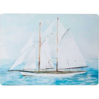 RockFlowerPaper Cork Back Placemats Set of 4 - Summer Sail