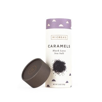 McCrea's McCrea's Caramels 5.5oz Tall Tube- Black Lava Sea Salt