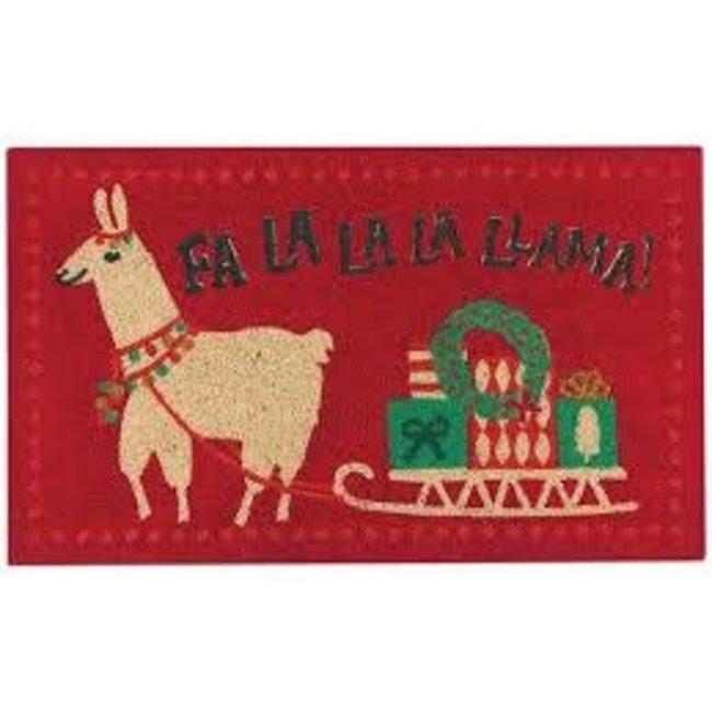 Danica Studios Doormat- Falalala llama