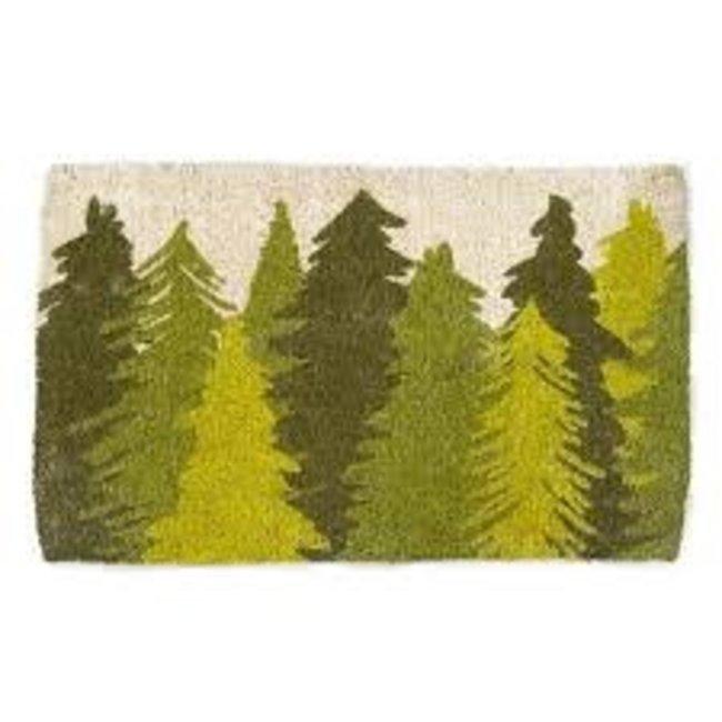 TAG Doormat- Woodland Trees COIR Basic