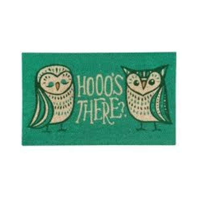 Now Designs Doormat- Hootenanny Basic Hooo's There