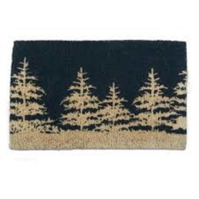 Doormat - Midnight Blue Forest