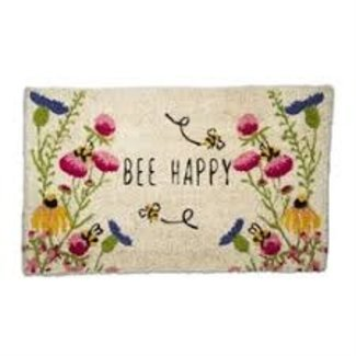 Doormat - BEE Happy Flower