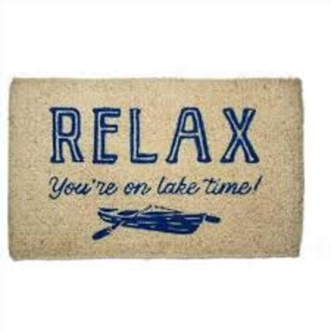 TAG Doormat - Relax, You're on Lake Time