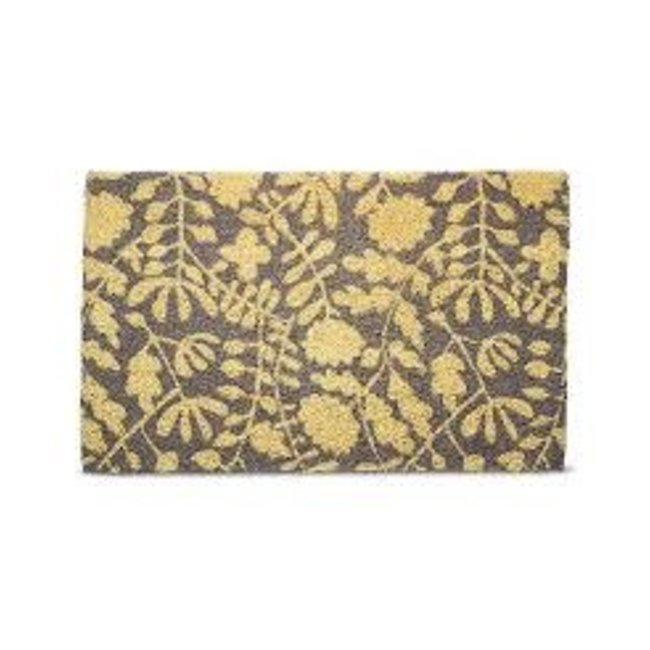 Tag Doormat Estate Size- Gray Blossoming