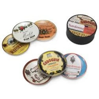 Wine Country set of 6 Plates in Gift Boxed