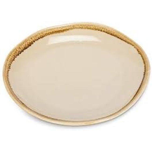 "Abbott Small Rustic Rim Plate 6.5"" - Stone"