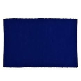 100% Cotton Ribbed Placemat- Nautical Blue