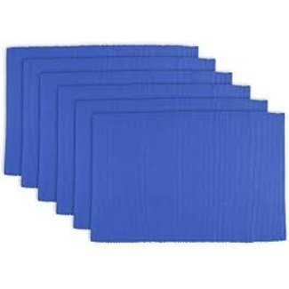 100% Cotton Ribbed Placemat-Blueberry