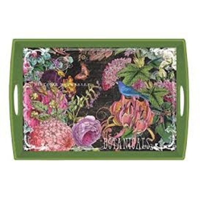 "Michel Design Works MDW Rectangular 20"" Wooden Large Tray - Botanical Garden"