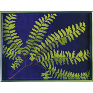 "Rockpaperflower 15""x 20"" Rectangular Tray - Green Fern"