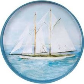 RockFlowerPaper 18' Round Tray - Summer Sail