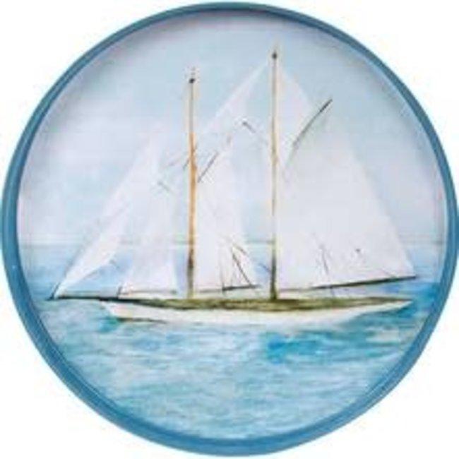 RockFlowerPaper Rock Flower Paper - 18' Round Tray - Summer Sail