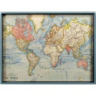 RockFlowerPaper Rectangular Tray- World Map