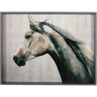 "RockFlowerPaper 15""x 20"" Rectangular Tray - Arabian Horse"