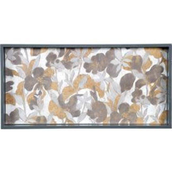 RockFlowerPaper Rock Flower Paper Wooden Rectangular Tray- Winter Garden