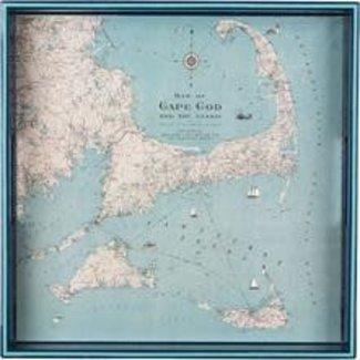 """RockFlowerPaper 15"""" Square Tray - Cape Cod"""