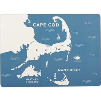 RockFlowerPaper Cork Back Placemats Set of 4 - Coastal Cape Cod